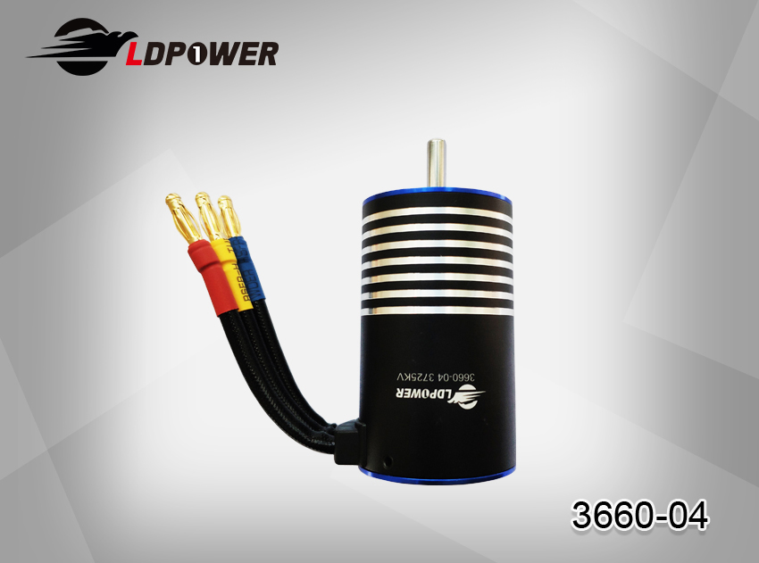LDPOWER 3660-04-3300KV/3725KV  4 pole sensorless  Inrunner brushless motor for 1:8  RC car